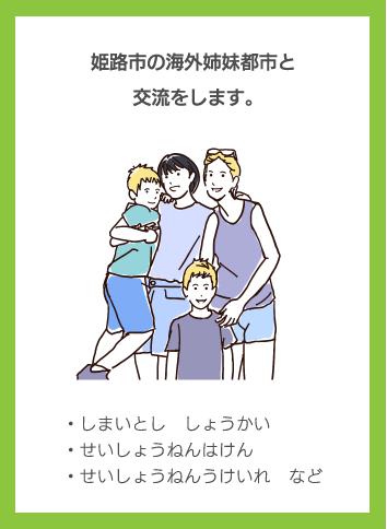 姫路市の海外姉妹都市と交流をします。